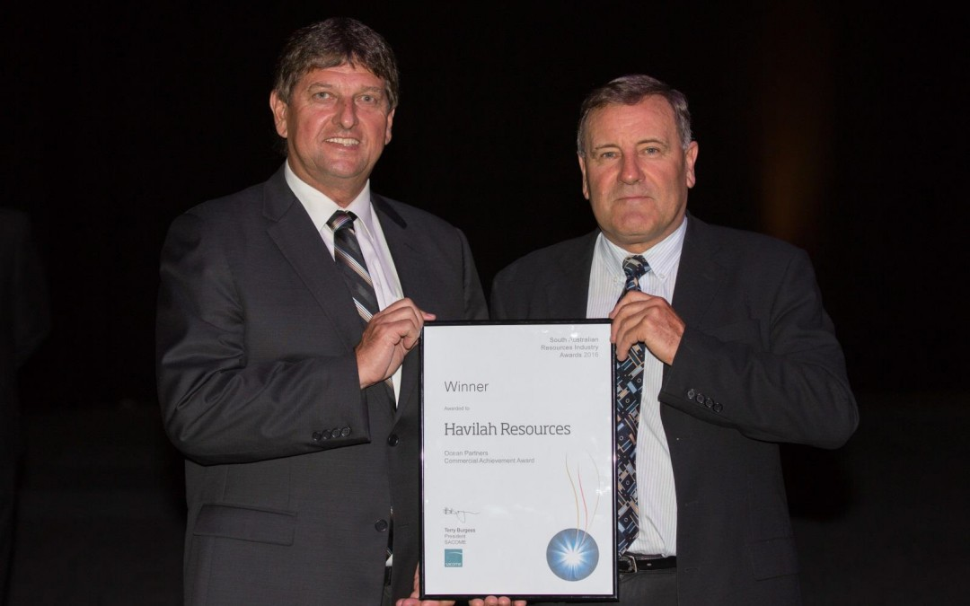 Havilah recognised with commercial achievement award